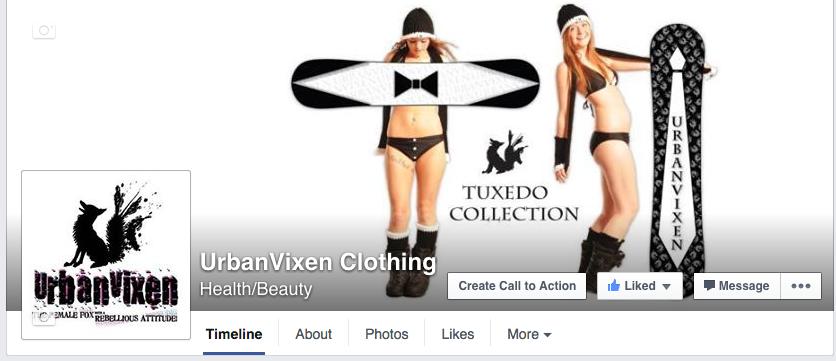 UrbanVIxen Clothing FaceBook