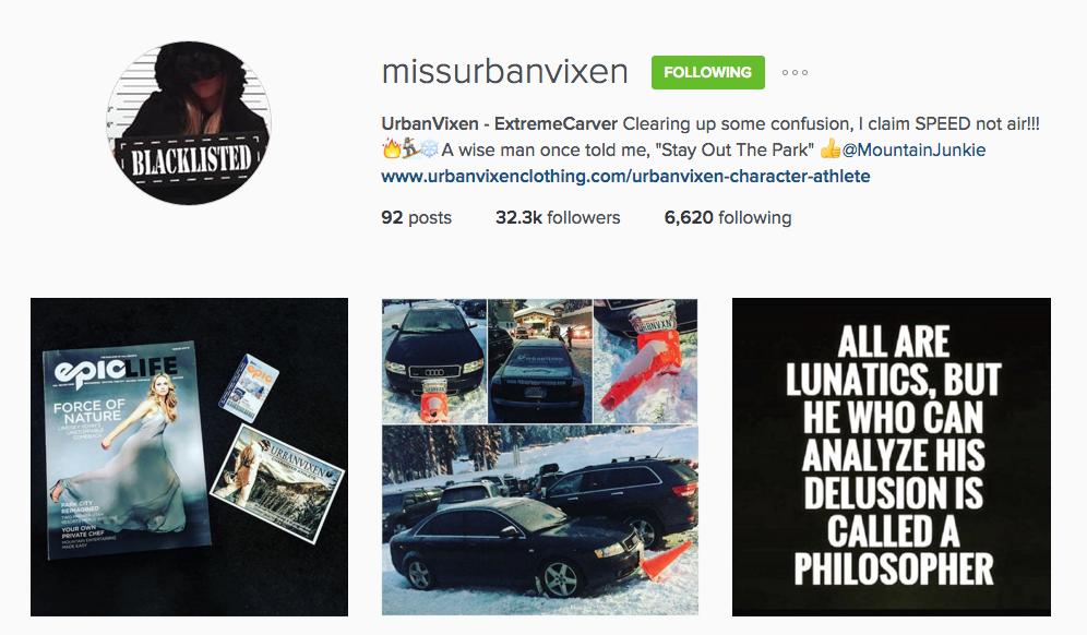 miss urban vixen instagram